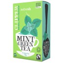 Green tea Mint økologisk 20pk 50g Clipper